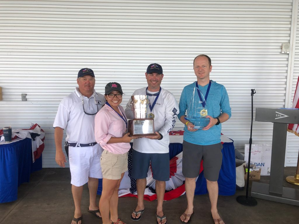 Winning Coast Guard team of Defenders' Challenge Regatta