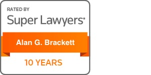 Alan Brackett Super Lawyers 10 years badge