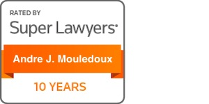 Andre Mouledoux Super Lawyers 10 years badge
