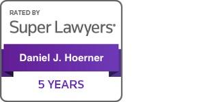 Daniel Hoerner Super Lawyers 5 years badge