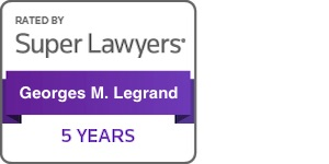 Georges Legrand Super Lawyers 5 years badge